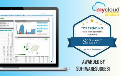SoftwareSuggest awards mycloud Hospitality with Top Trending Hotel Management Software Fall 2020